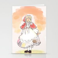 hetalia Stationery Cards featuring Red Riding Bel by Pixellated Ponderings