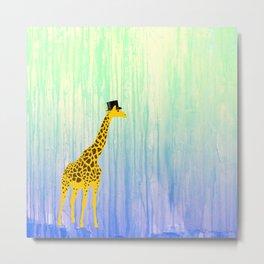Dapper Giraffe Metal Print