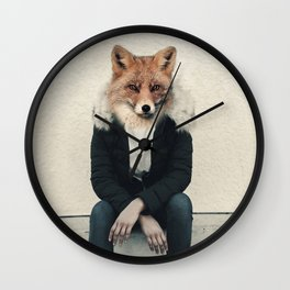 Fox head Wall Clock