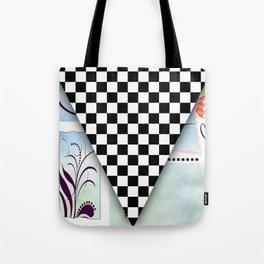 Fun Original Pop Art Abstract Checkered Racing Flag By Liane Wright Tote Bag