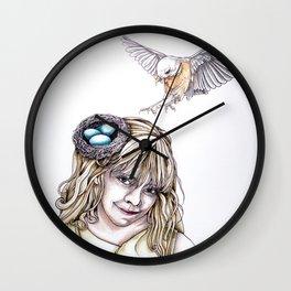 Her Nest Wall Clock
