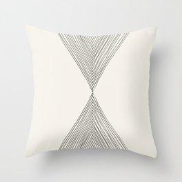 Minimalist Boho Triangles Throw Pillow