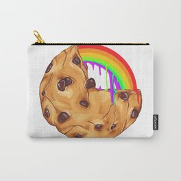 Chocolate Biscuit Chip Cookie Rainbow Pride Gift Carry-All Pouch