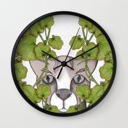spying cat Wall Clock