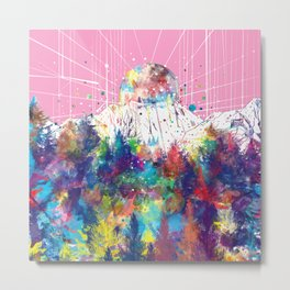 colorful forest 8 Metal Print