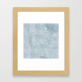 distressed chambray denim Framed Art Print