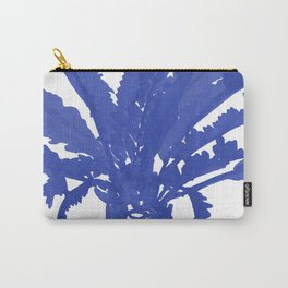 Stand Tall Blue Palm Tree Carry-All Pouch