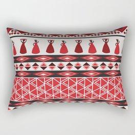 African Tribal Pattern No. 85 Rectangular Pillow