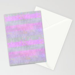 Subtle Painted Stripes Pink And Grey Stationery Cards