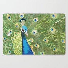 The Majestic Peacock Cutting Board