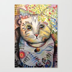 Smokey ... abstract cat art Canvas Print