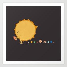 Poo Poo Sun Art Print