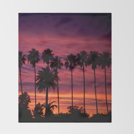 Sunset over Hollywood Throw Blanket