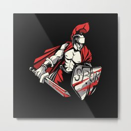 Roman Empire Warrior Metal Print