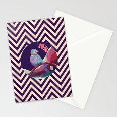bird in pattern Stationery Cards