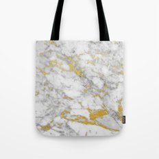 Gold Flecked Marble Tote Bag