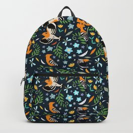 Hoopoe bird pattern Backpack
