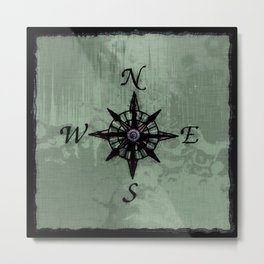 Historic Old Compass Rose Metal Print