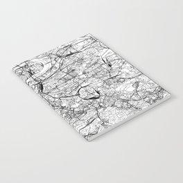 Prague White Map Notebook