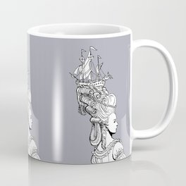 Girl With Ship Coffee Mug