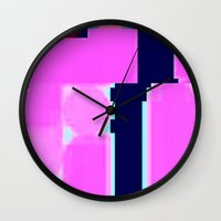 blur Wall Clocks featuring Blur by allan redd