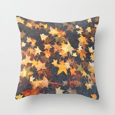Earth Stars Throw Pillow