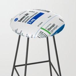 Drug Labels Bar Stool