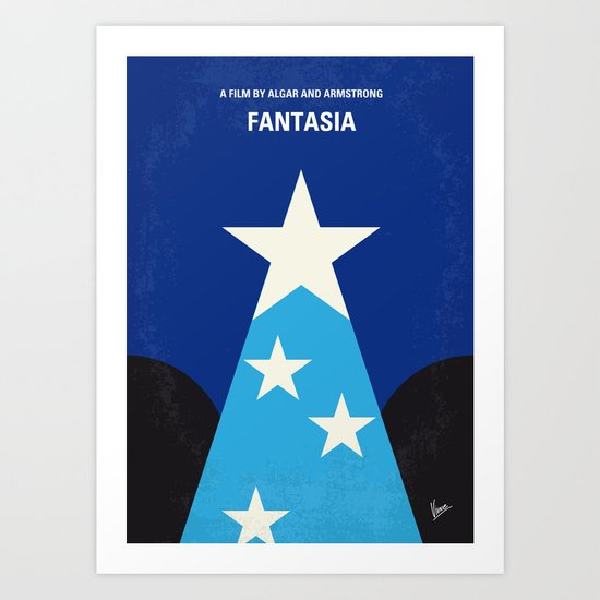 No242 My Fantasia minimal movie poster Art Print