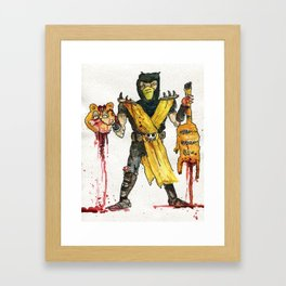 Scorpion Vs. Garfield Framed Art Print