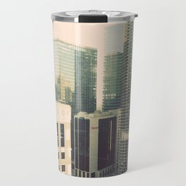 Chicago River Marina Tower Color Photo Travel Mug