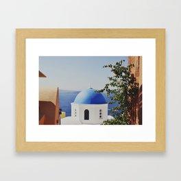 Santorini Church Framed Art Print