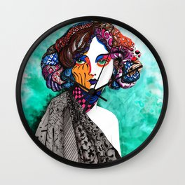 """When the muse come to visit"" Wall Clock"