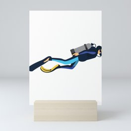 Diver Gift Take Me Away to My Happy Place Diving Mini Art Print