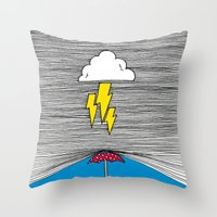 shield Throw Pillows featuring Shield by Prince Arora