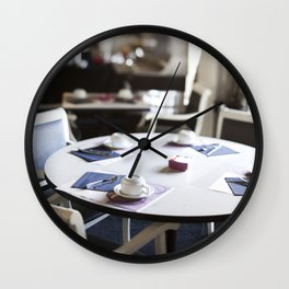 The Hotel Cafe in France Wall Clock