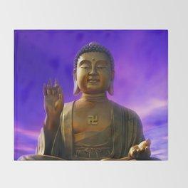 Buddha Blue Dawn Throw Blanket