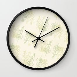 Ferns All Over Wall Clock