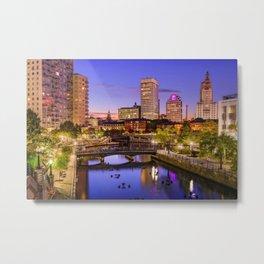 Waterplace Park - Providence, Rhode Island Twilight Sunset Metal Print