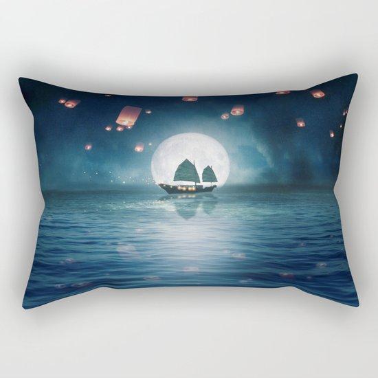 Travel through the Lights Rectangular Pillow