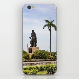 Statue of Cordoba by Lake Nicaragua in Granada iPhone Skin
