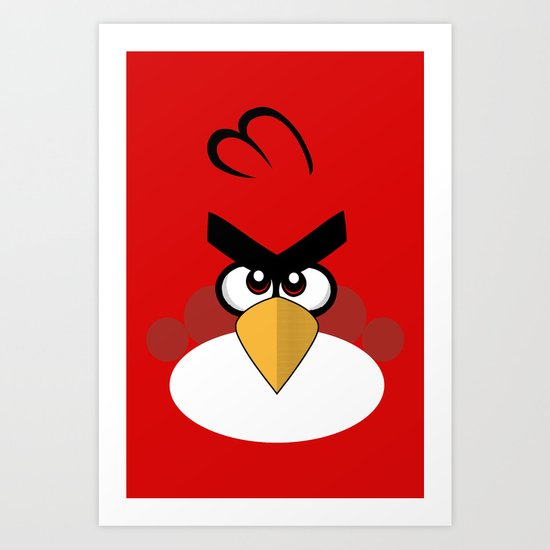 Red and angry Art Print
