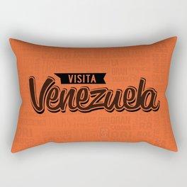 Venezuela - Lettering Design with orange background Rectangular Pillow