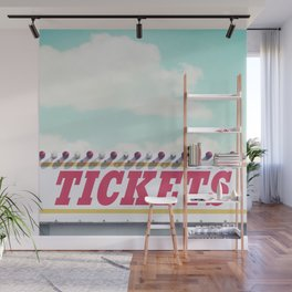 Carnival Ticket Booth Wall Mural