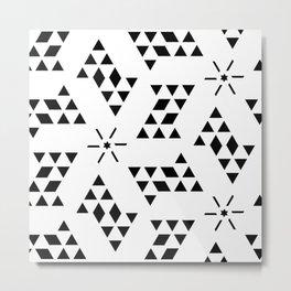 Triangle slide Pattern Metal Print