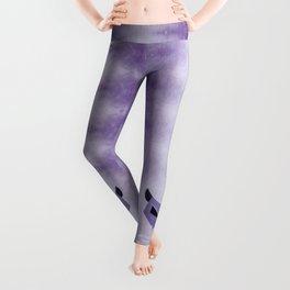 Purple Evil Cat Skull Leggings