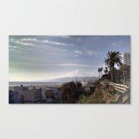 santa monica Canvas Prints featuring Santa Monica by Merse