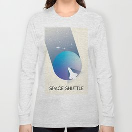 Space Shuttle Retro Space Art, Long Sleeve T-shirt