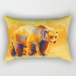Bear Dream - Colorful orange yellow grizzly bear digital art Rectangular Pillow