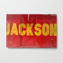 My favorite Artist Jackson Metal Print