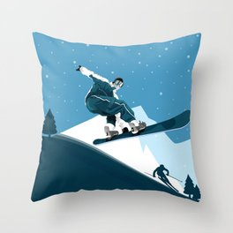 Skiing • Winter Sport Unique Design Ever Throw Pillow